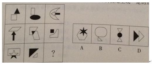 .左边给定的是纸盒外表面展开图,右边哪一项能由他折叠而成,请把